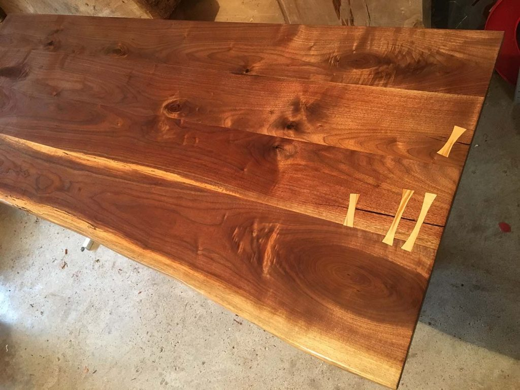 Black Walnut Slab Dining Table