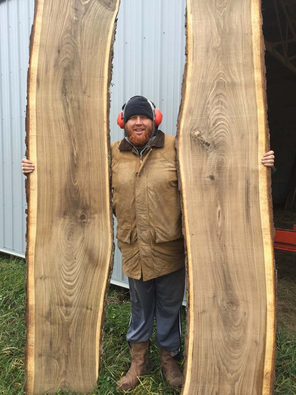 Bookmatched Walnut Wood Slabs for sale