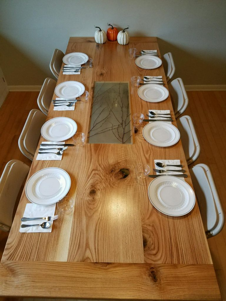 Red Oak Farmhouse Table