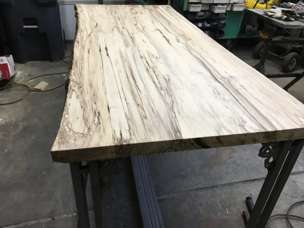 Spalted Hackberry Live Edge Wood Table